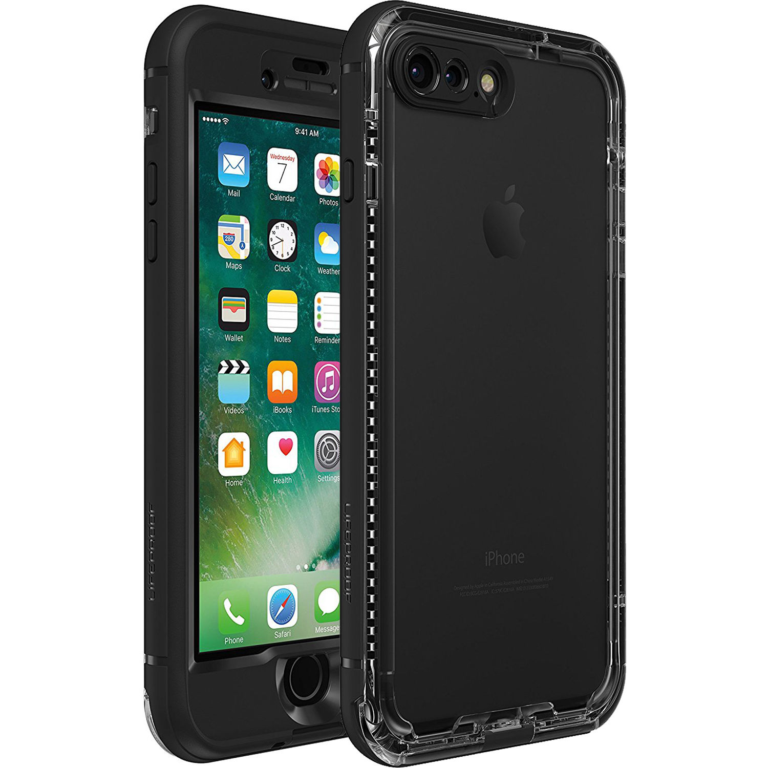LifeProof nüüd Case for iPhone 7 Plus (Black) 77-54001 77f77cac7f5f