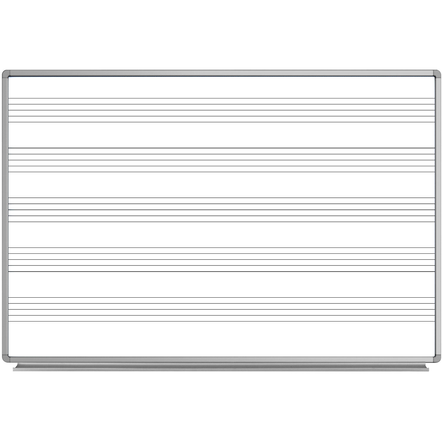 Luxor 72 X 48 Quot Wall Mount Music Whiteboard Wb7248m B Amp H