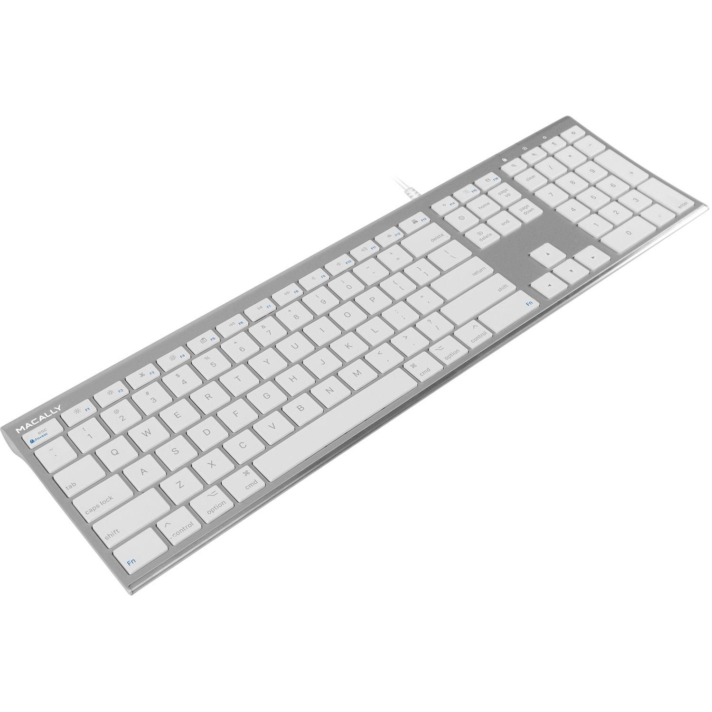 macally ultra slim usb wired keyboard aluminum acekeya b h. Black Bedroom Furniture Sets. Home Design Ideas