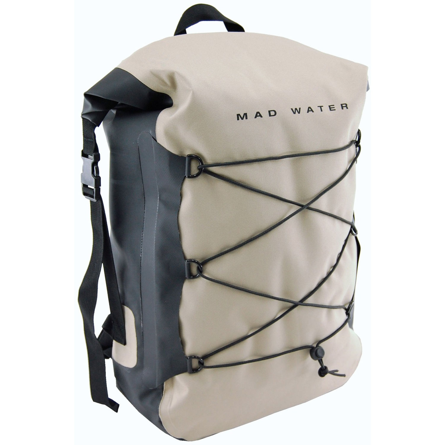 Mad Water Classic Roll Top Waterproof Backpack 30l Khaki