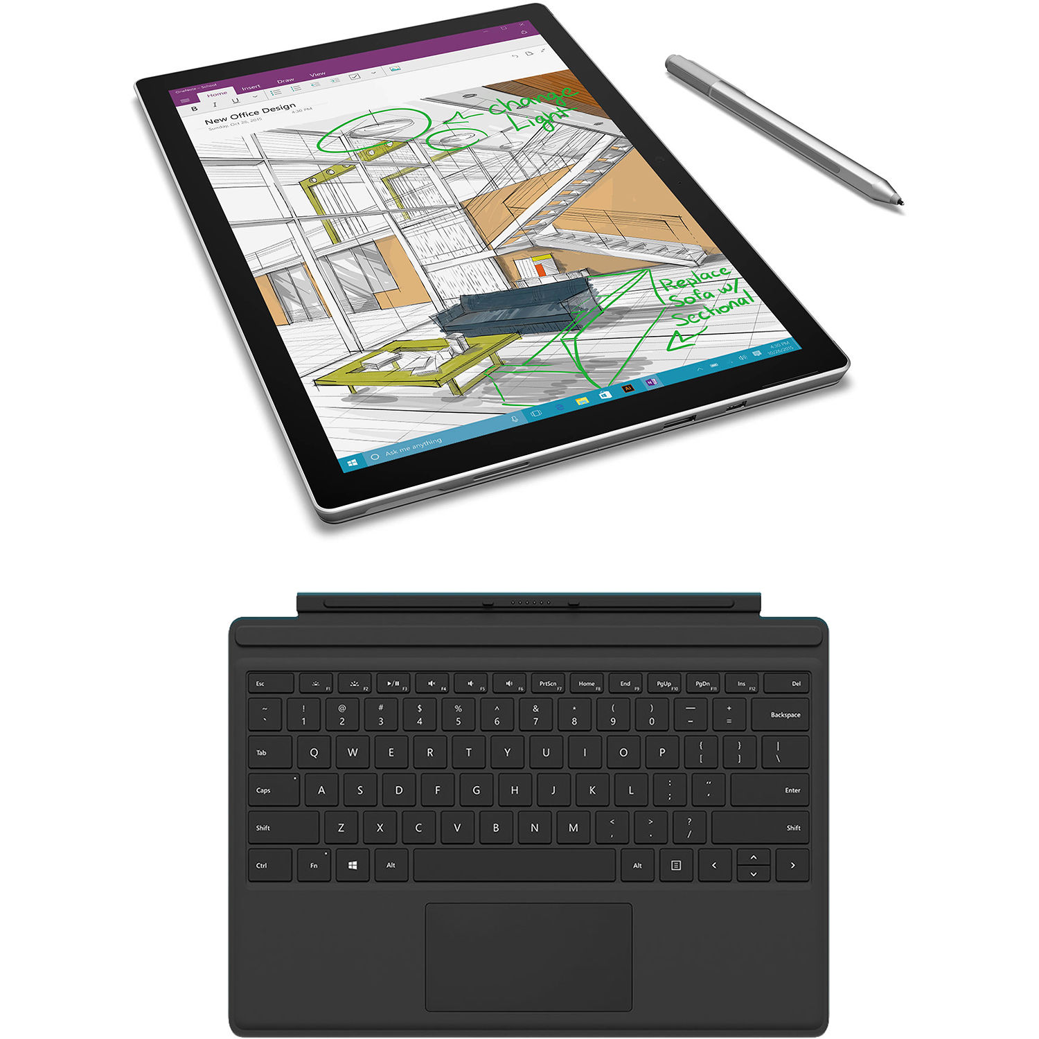 "Microsoft 12.3"" Surface Pro 4 128GB Multi-Touch Tablet, B&H"