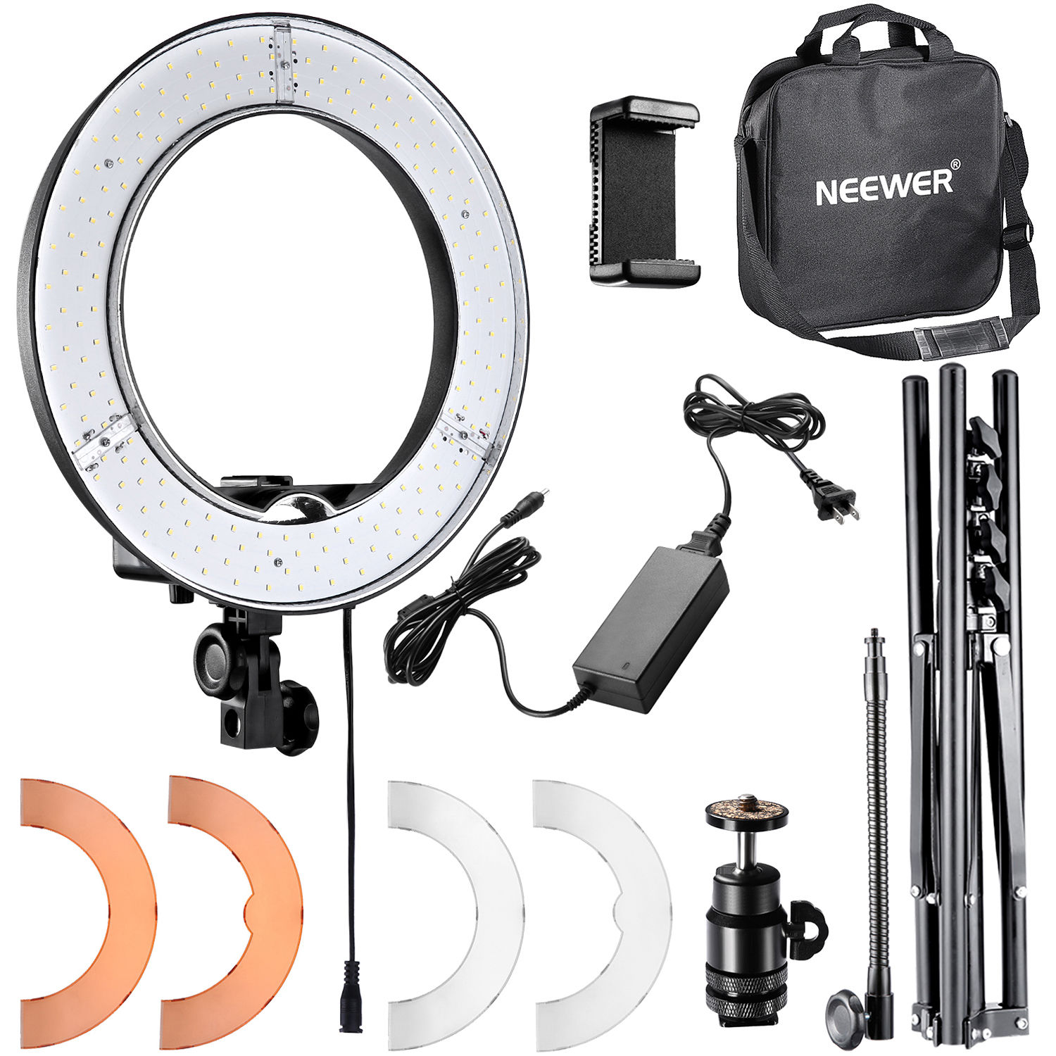 neewer led ring light with stand and accessories kit 10087109. Black Bedroom Furniture Sets. Home Design Ideas