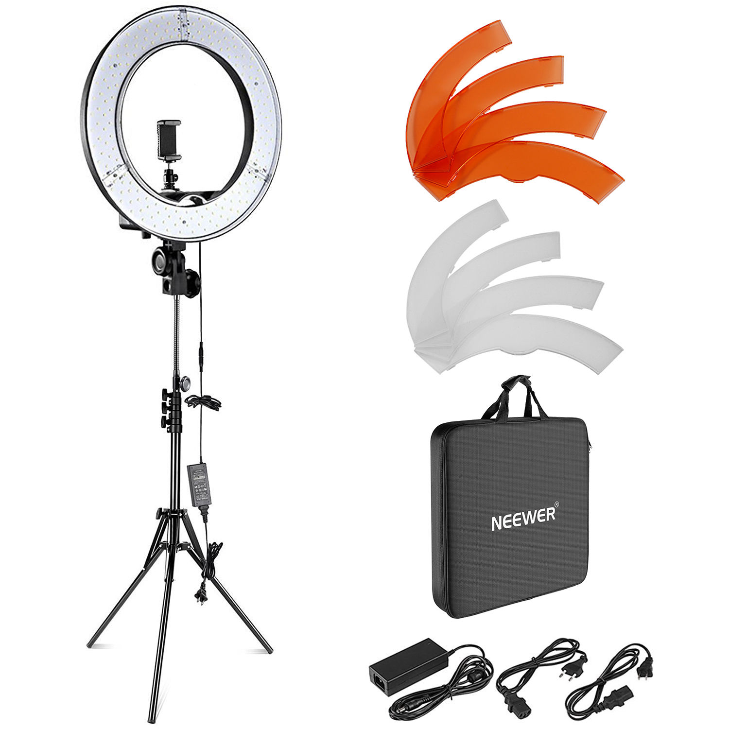 Makeup Ring And Lights: Neewer LED Ring Light With Stand And Accessories Kit 10088612
