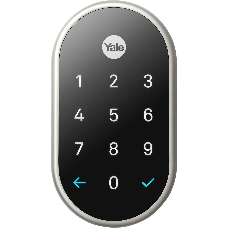 Google Nest X Yale Lock Satin Nickel With Nest Rb Yrd540