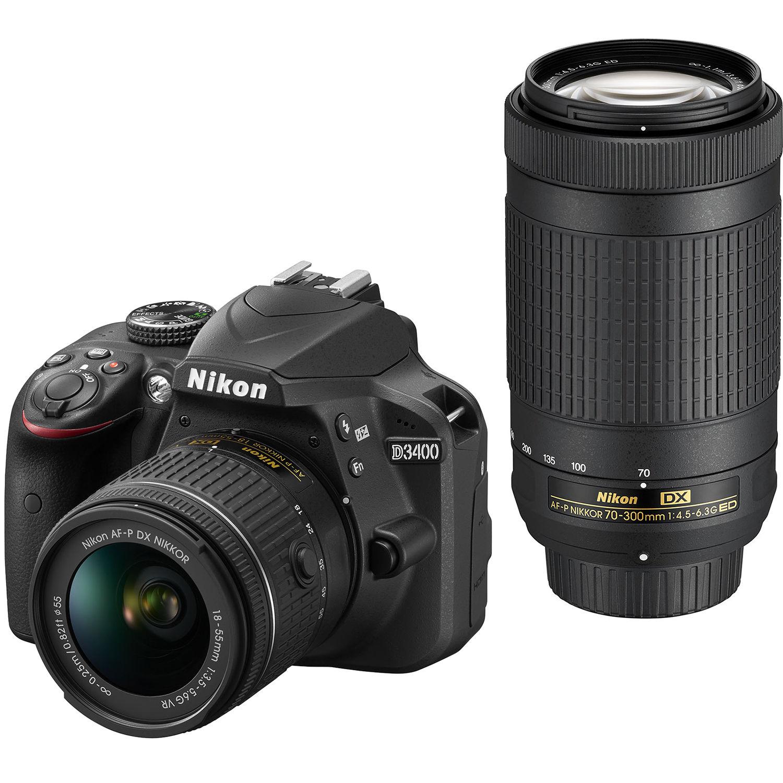 Nikon D3400 DSLR Camera with 18-55mm and 70-300mm Lenses (Black) ec7dddcfcd9