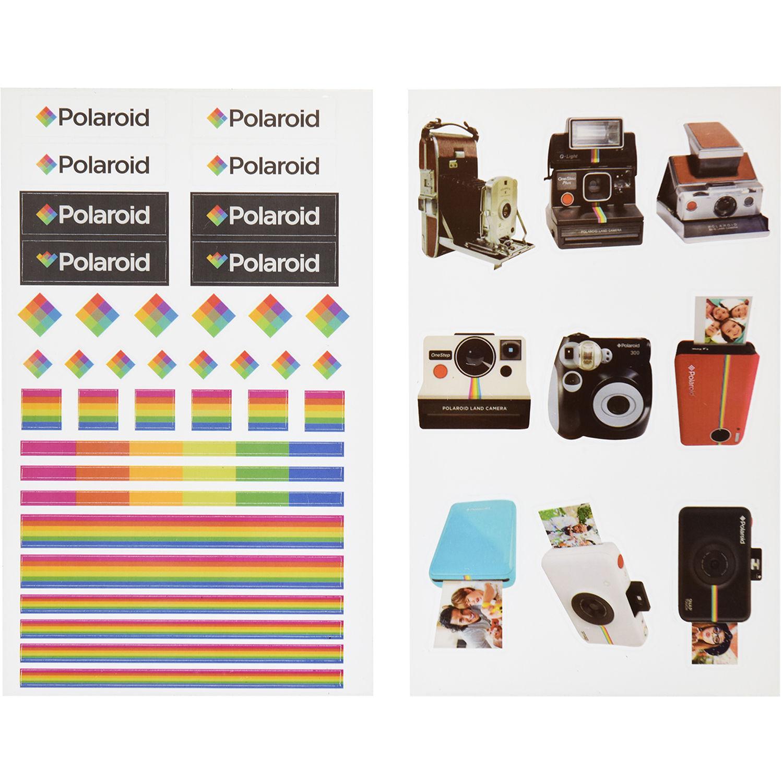 Polaroid Scrapbook Stickers (Polaroid Logo) PL2X3SPLRLOGO B&H