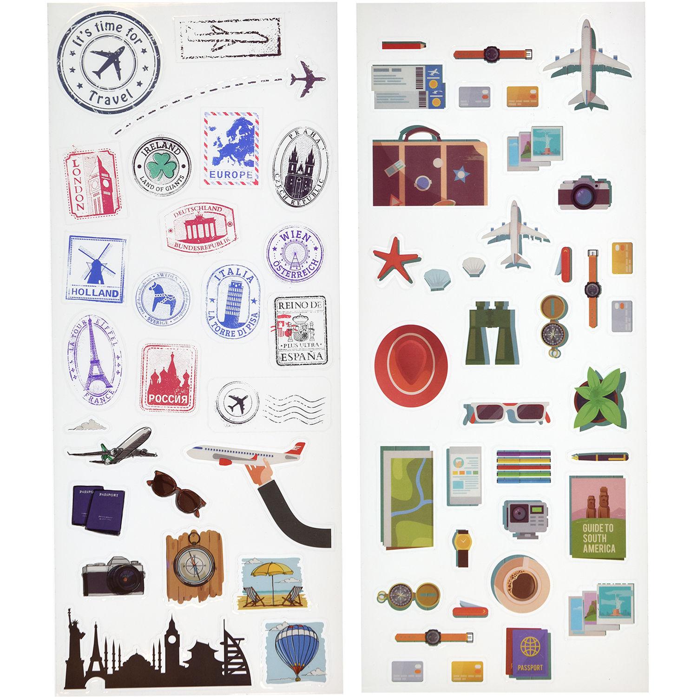 Polaroid Scrapbook Stickers (Travel) PL2X3STRAVEL B&H ...