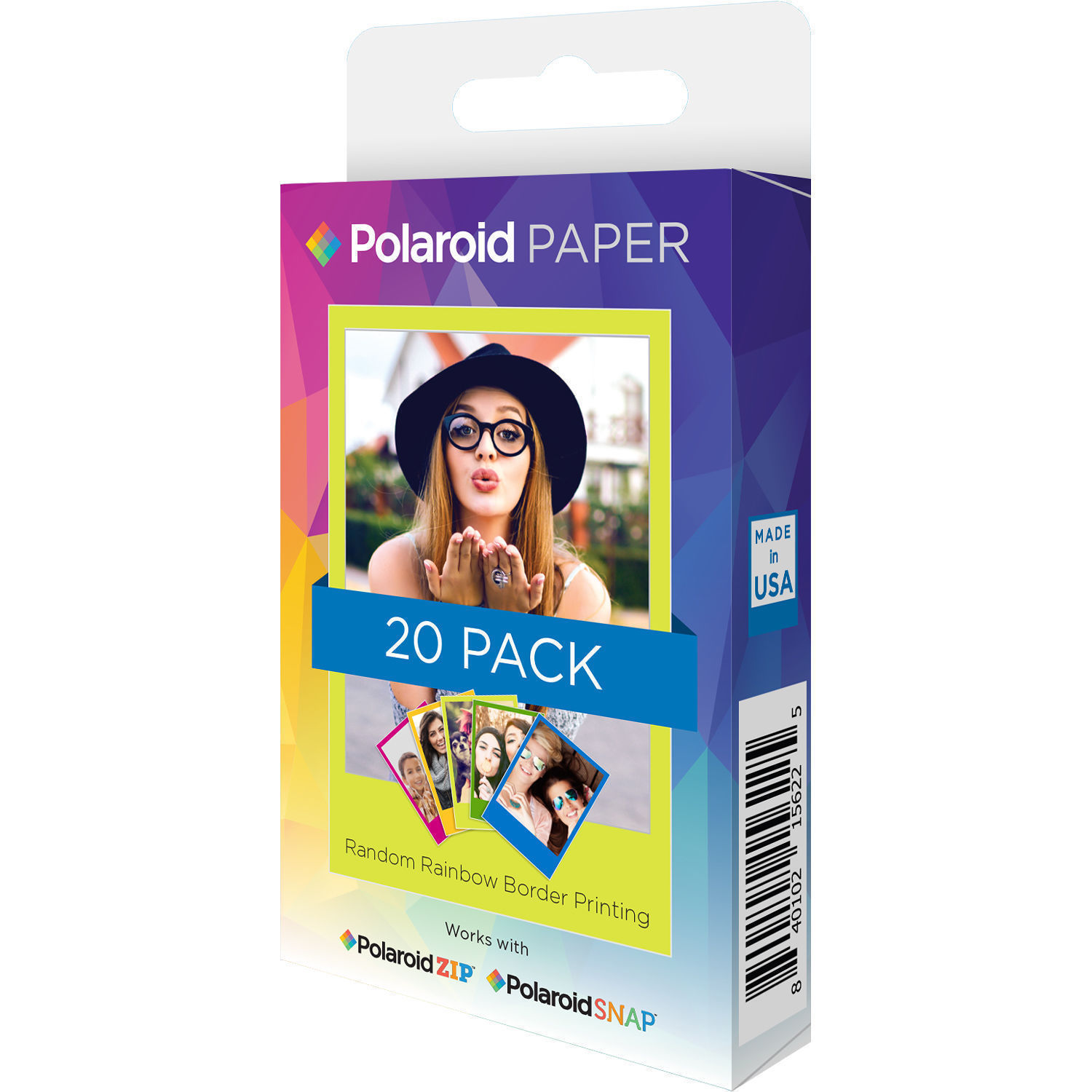 Polaroid 2 X 3 Premium Zink Rainbow Photo Polz2x320rb Bh