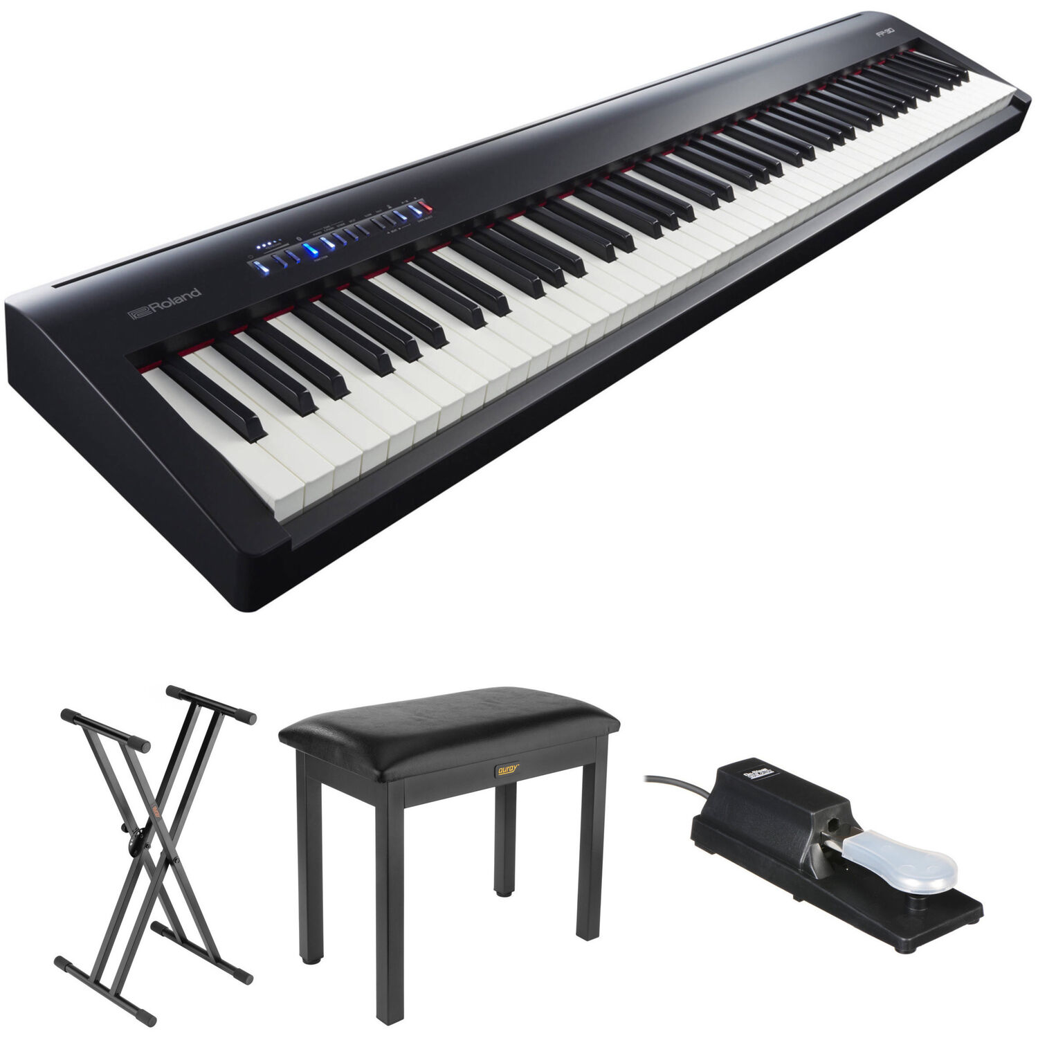 Roland FP-30 Digital Piano Kit with Stand Bench and Sustain Pedal (  sc 1 st  Bu0026H & Roland FP-30 Digital Piano Kit with Stand Bench and Sustain islam-shia.org