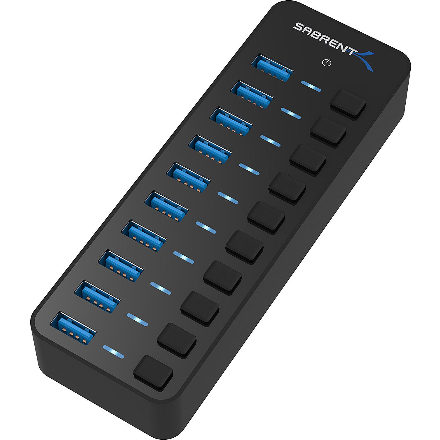 Sabrent 10 Port Usb 3 0 Hub Hb Bu10 B Amp H Photo Video