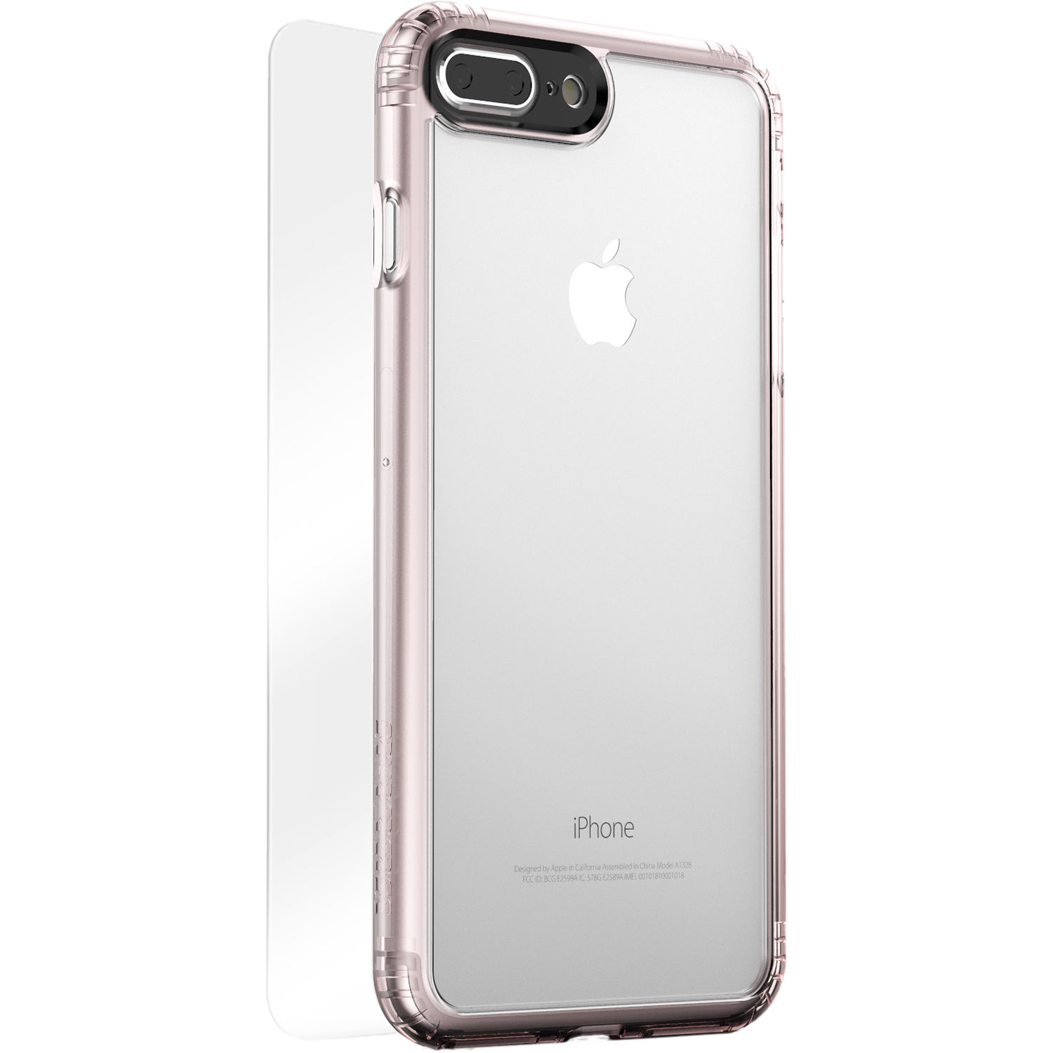 Sahara Case Clear Protection Kit for iPhone 7 Plus and 8 Plus (Rose Gold)