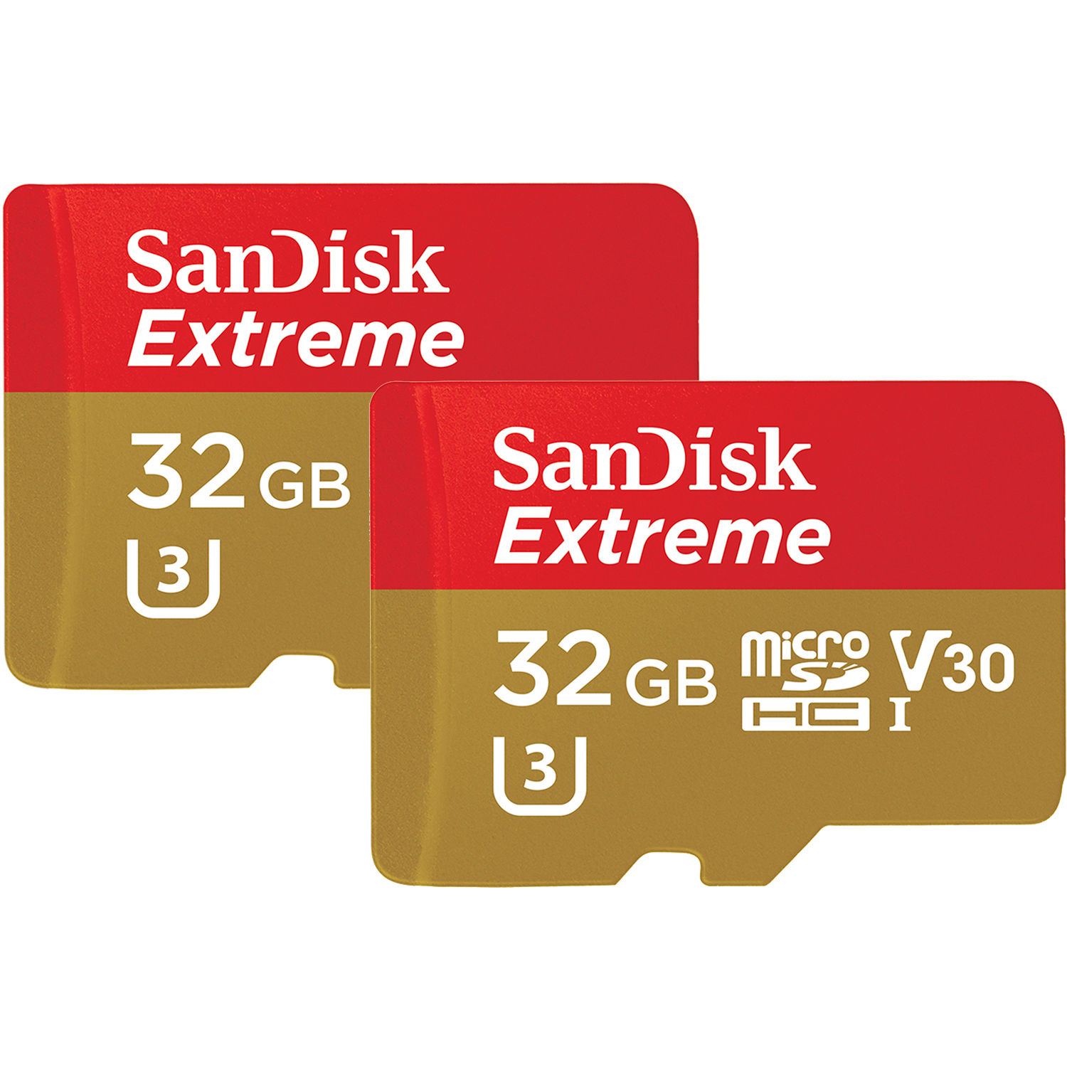 b3c24deae SanDisk 32GB Extreme UHS-I microSDHC Memory Card with SD Adapter (2-Pack