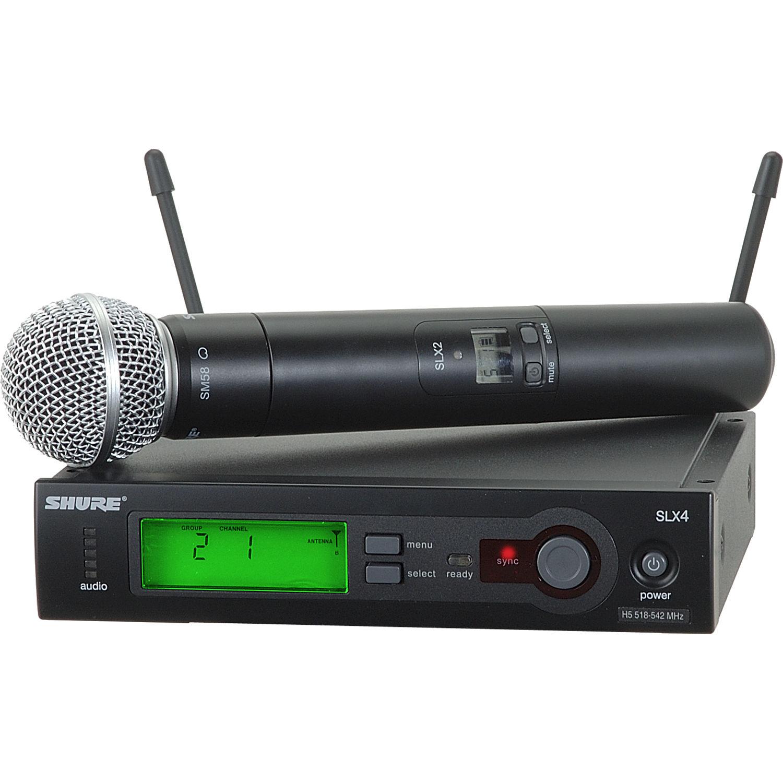shure slx24 sm58 wireless handheld microphone slx24 sm58 h19 b h. Black Bedroom Furniture Sets. Home Design Ideas