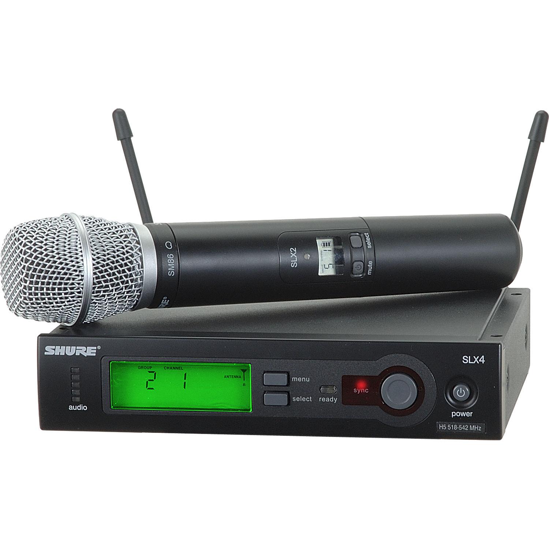 Shure Lx Wireless Microphone System : shure slx series wireless microphone system slx24 sm86 h19 b h ~ Hamham.info Haus und Dekorationen