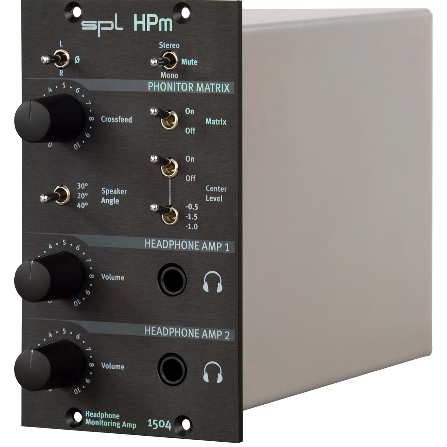 Spl hpm headphone monitoring amplifier in dual splhpmseri500 bh spl hpm headphone monitoring amplifier in dual slot 500 series rack module aloadofball Image collections