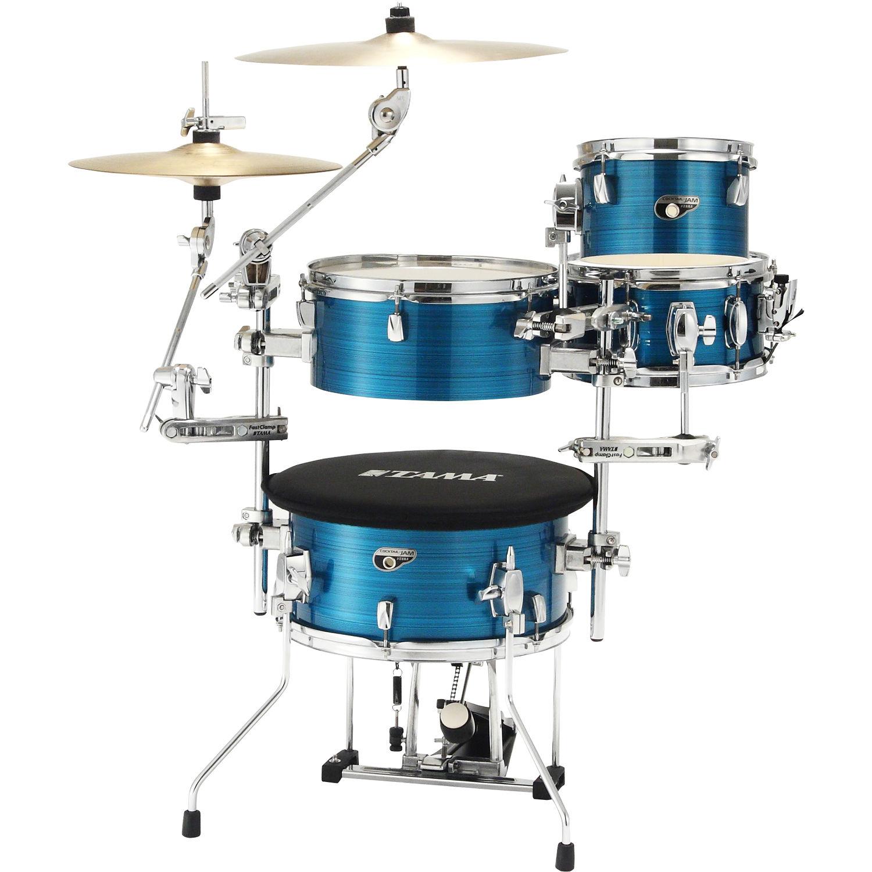 tama cocktail jam mini 4 piece portable drum kit cjp44hlb b h. Black Bedroom Furniture Sets. Home Design Ideas