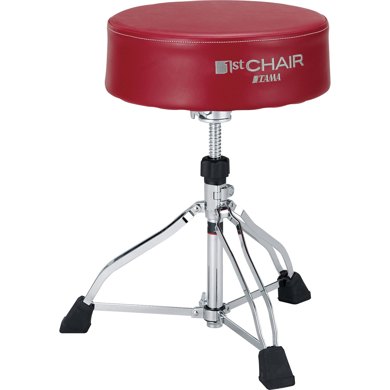 Tama Ht830r 1st Chair Round Rider Xl Trio Drum Throne Red Seat