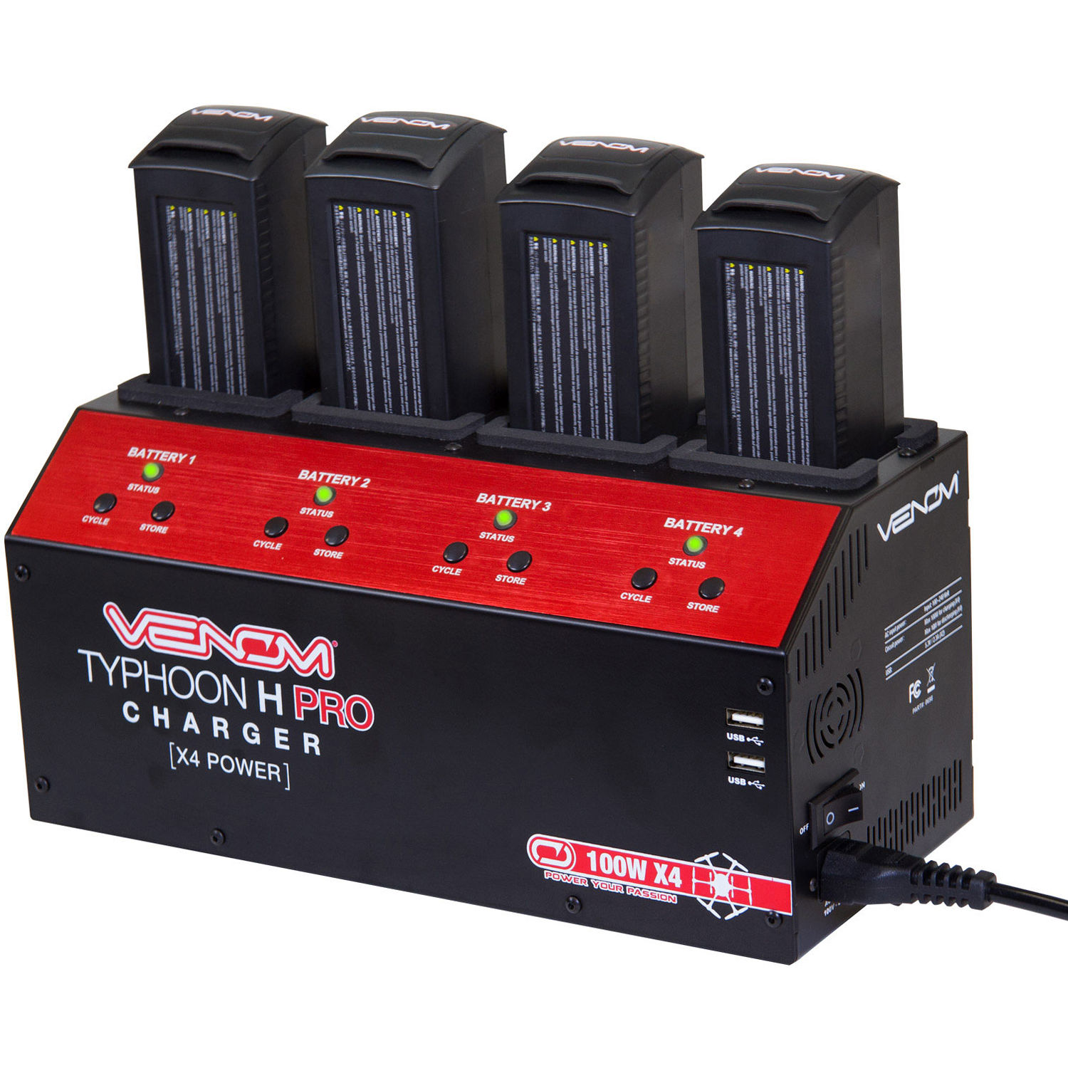 Venom Group 4-Port Battery Balance Charger for YUNEEC 0698 B&H