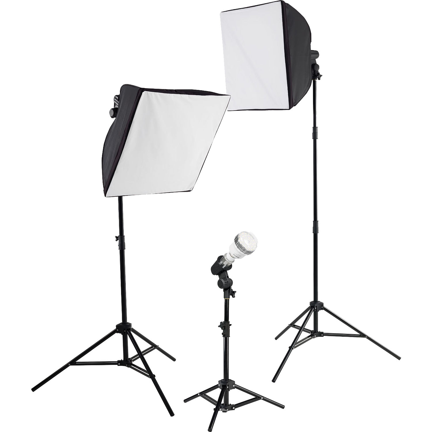Soft Studio Lighting Kit: Westcott ULite LED 3-Light Collapsible Softbox Kit 403L B&H