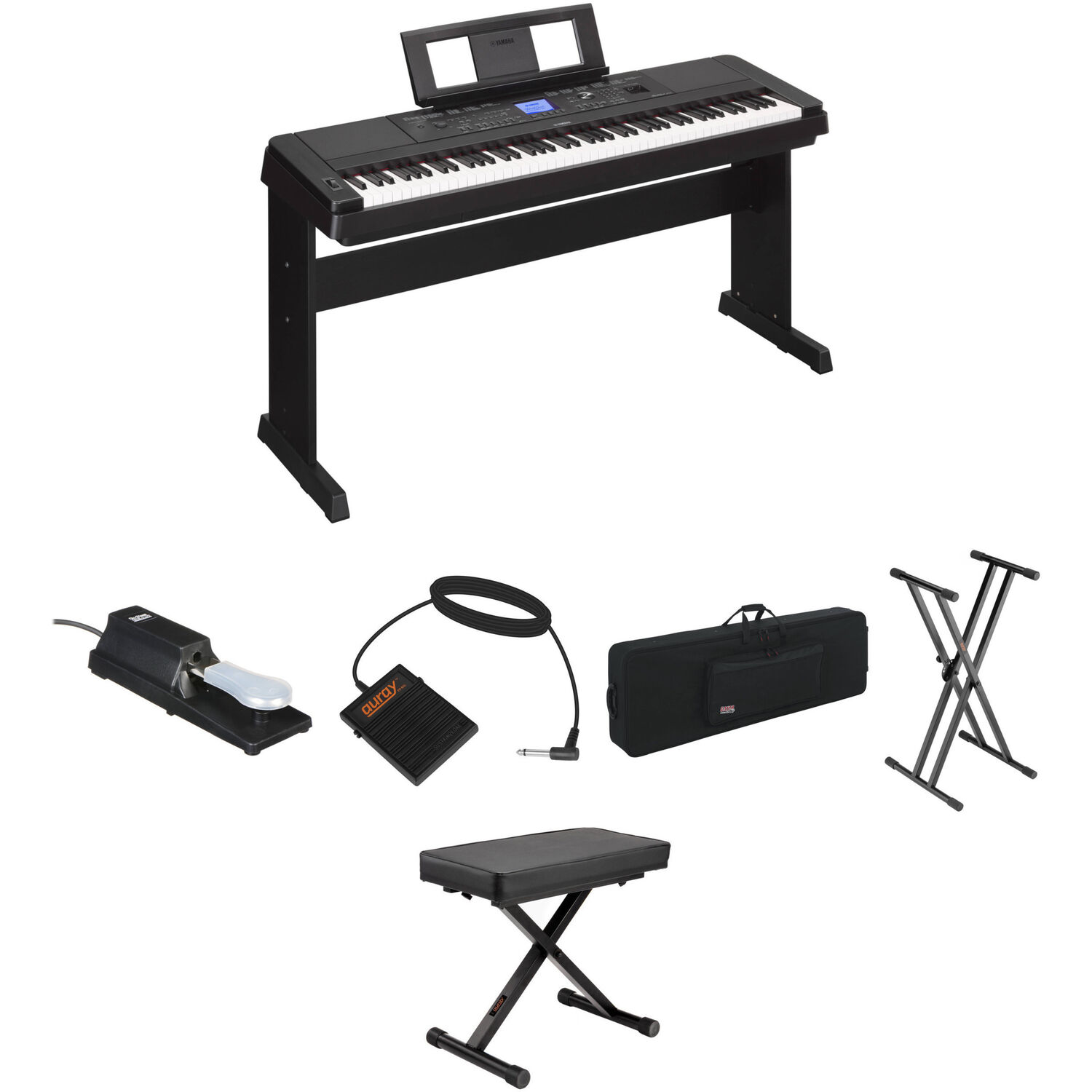 Yamaha dgx 660 stage bundle kit with pedals bench case and for Yamaha dgx 660 bundle