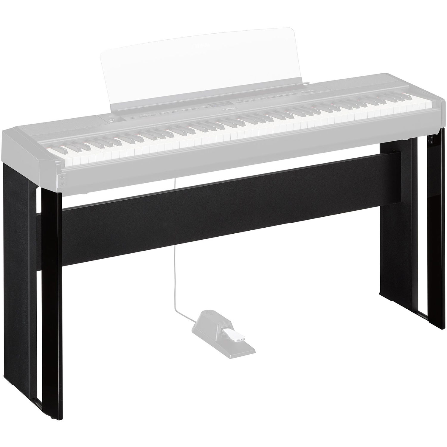 yamaha l515 matching wood stand for p 515 piano black l515b. Black Bedroom Furniture Sets. Home Design Ideas