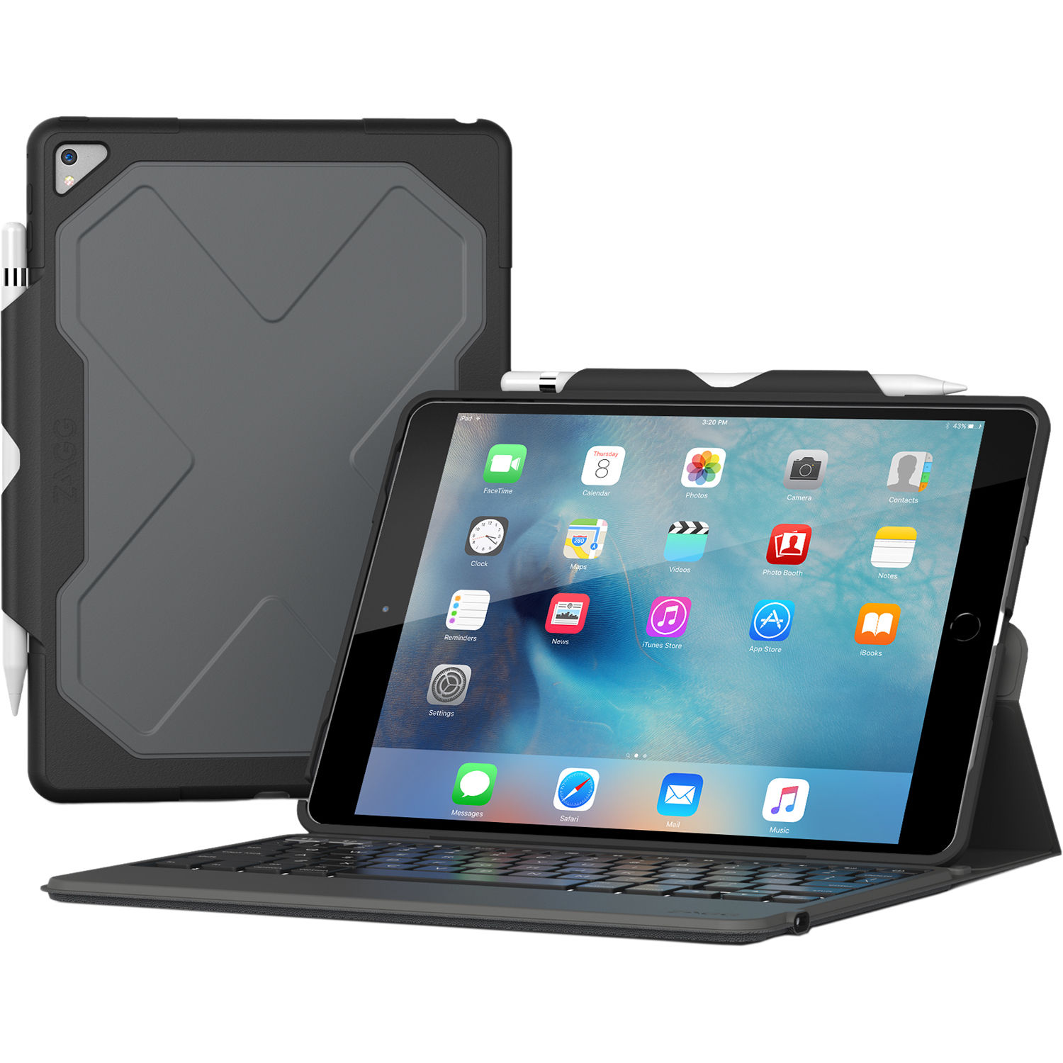 Zagg Rugged Messenger Keyboard Case For Ipad Pro Id9rmkbb0 B Amp H