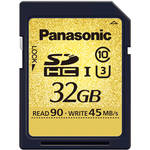 Panasonic 32GB Gold Series UHS-I SDHC Memory Card (U3)