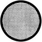 "Rosco Standard Black and White Glass Spectrum Gobo #81131 Plate Weave (86mm = 3.4"")"