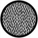 "Rosco Standard Black and White Glass Spectrum Gobo #81130 Scales Inverted (86mm = 3.4"")"