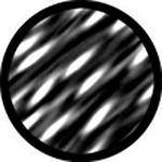 "Rosco Standard Black and White Glass Spectrum Gobo #81140 Synaptic (86mm = 3.4"")"