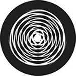 "Rosco Standard Black and White Glass Spectrum Gobo #81145 Circle Twist (86mm = 3.4"")"
