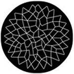 "Rosco Standard Black and White Glass Spectrum Gobo #81157 Dream Catcher Glass (86mm = 3.4"")"