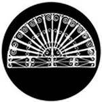 "Rosco Standard Black and White Glass Spectrum Gobo #81170 Fan Grill (86mm = 3.4"")"
