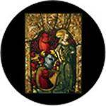 "Rosco Standard Color Glass Spectrum Gobo #86673 Medieval Stained Glass (86mm = 3.4"")"