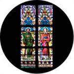 Rosco Standard Color Glass Spectrum Gobo #86672 Liturgical Stained Glass (B = 64.5mm)