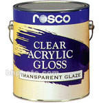 Rosco Clear Gloss Acrylic Glaze - 5 Gal.