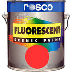 Rosco Fluorescent Paint (Red, Matte, 1 Pint)