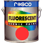 Rosco Fluorescent Paint (Red, Matte, 1 Gallon)