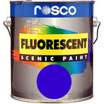 Rosco Fluorescent Paint (Blue, Matte, 1 Quart)