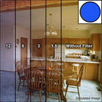 "Tiffen 4x4"" Deca Mired Set of 4 Blue Color Conversion Glass Filters"