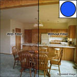 "Tiffen 3 x 3"" Decamired Blue 1.5 Cooling  Glass Filter"