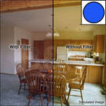 "Tiffen 3 x 3"" Decamired Blue 3 Cooling  Glass Filter"