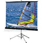 "Draper Diplomat Portable Tripod Projection Screen - 70 x 70"" - Glass Beaded"