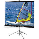 "Draper Diplomat Portable Tripod Projection Screen - 84 x 84"" - Glass Beaded"