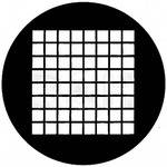 Rosco Standard Steel Gobo #78041B Small Squares (B = Size 86mm)