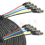 Canare 5-BNC Male to 5-BNC Male Cable - 200 ft