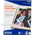 "Epson Premium Photo Paper Semi-Gloss (8.5 x 11"", 20 Sheets)"