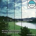 "Tiffen 4 x 5"" 1 Tropic Blue Hard-Edge Graduated Filter (Vertical Orientation)"