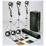 Dedolight Dimmable HMI 3-Light Kit with Stands (90-260 VAC)