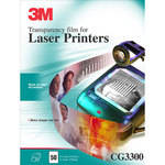 3M CG3300 Black and White Laser Transparency Film (50 Sheets)
